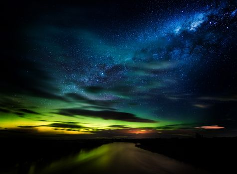 Photo free Aurora, New Zealand, night