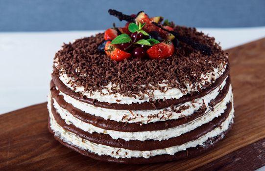 Фото бесплатно торт, клубника, десерт