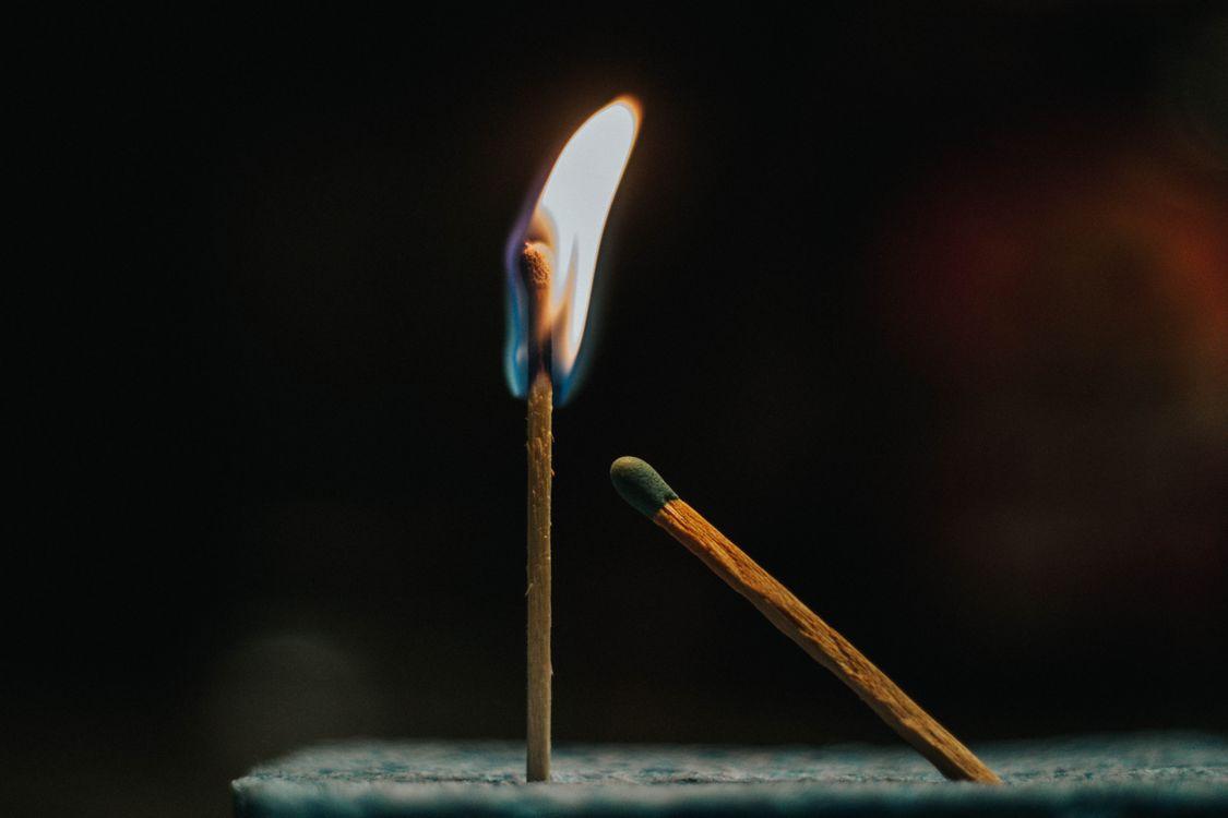Фото бесплатно спички, огонь, пламя - на рабочий стол