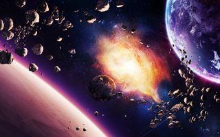 Фото бесплатно иллюстрация, галактика, планета
