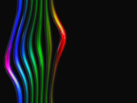 Разноцветные линии на серном фоне