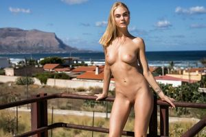 Бесплатные фото nancy a,jane f,erica,блондинка,на улице,голые,идеальные сиськи