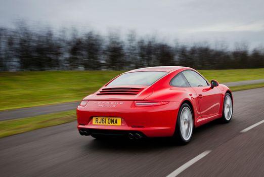 Фото бесплатно Porsche 911 GT2, красный, дорога