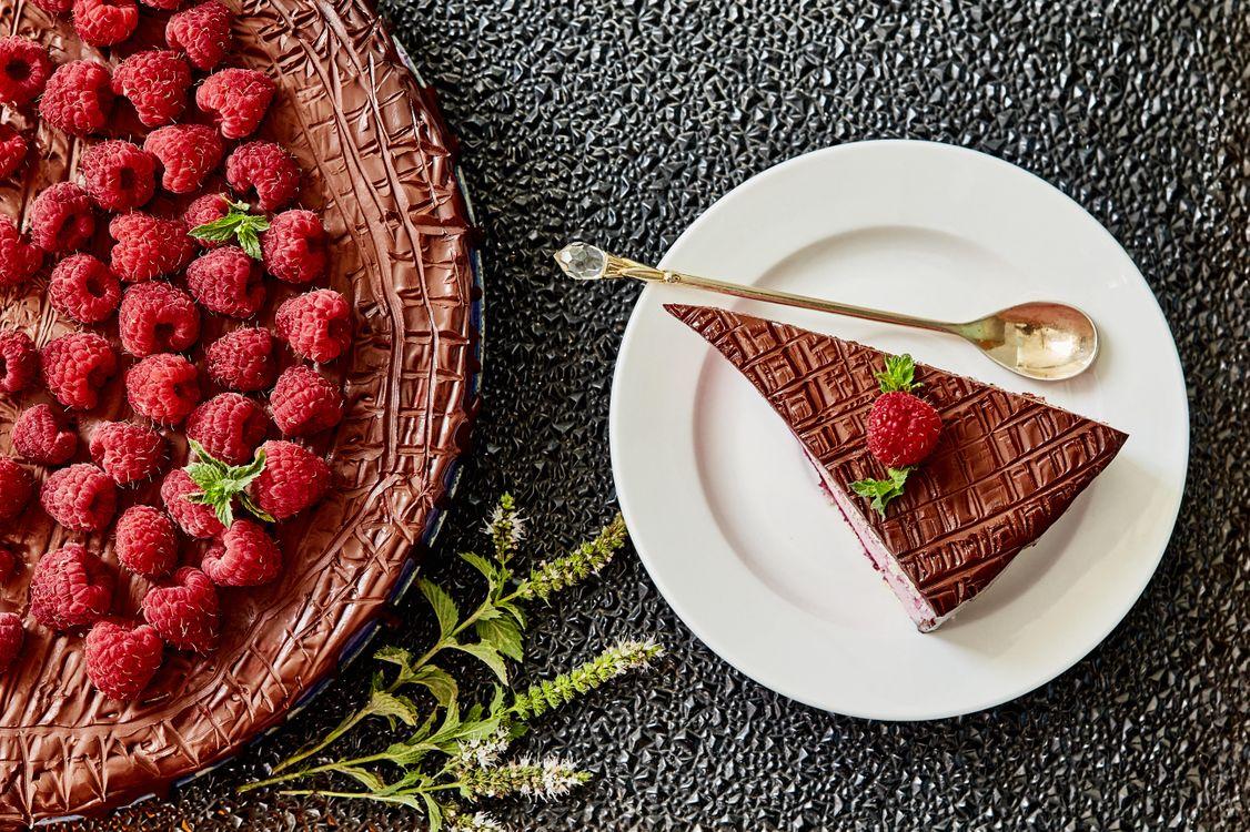 Фото бесплатно ягоды, торт, крем - на рабочий стол