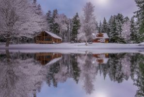 Winter lake · free photo