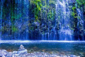 Бесплатные фото Моссбрай, настенный водопад, водопад, скалы, водоём, пейзаж