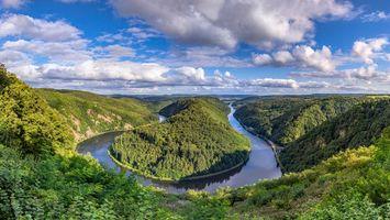 Бесплатные фото Saarschleife,река Саар,Метлах,Оршхольц,Германия,пейзаж