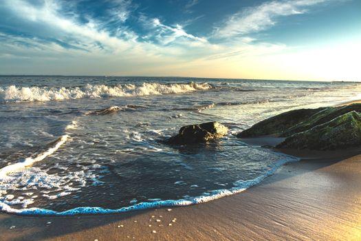 Фото бесплатно утро, пляж, камни