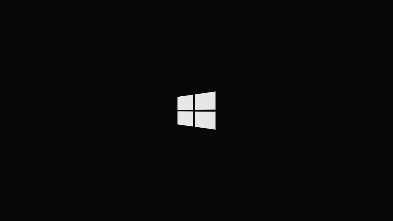 Фото бесплатно Windows 10, простой, Microsoft Windows, черный фон, simple, black background, майкросовт, hi-tech
