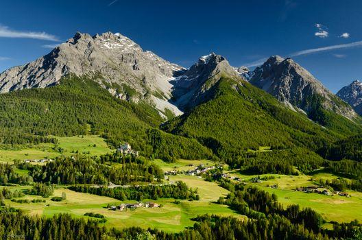 Фото бесплатно деревня, мох, Альпы