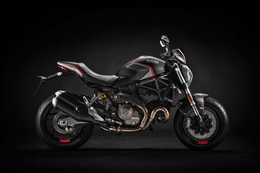 Фото бесплатно Ducati Monster 821 Stealth, вид сбоку, спортивный мотоцикл