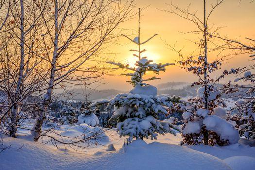 Photo free drifts, sunset, landscape