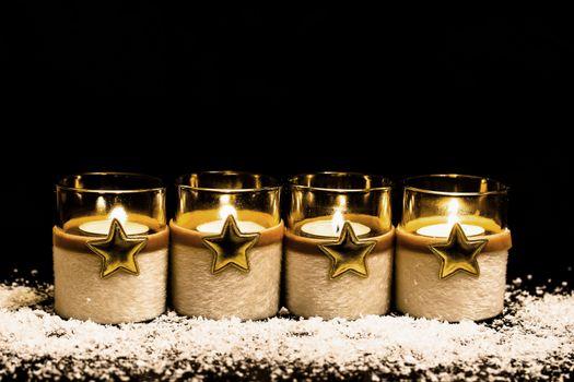 Свечи и звездочки