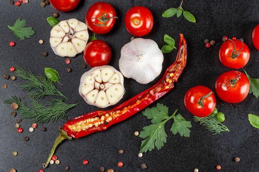 Photo free food, tomatoes, chilli