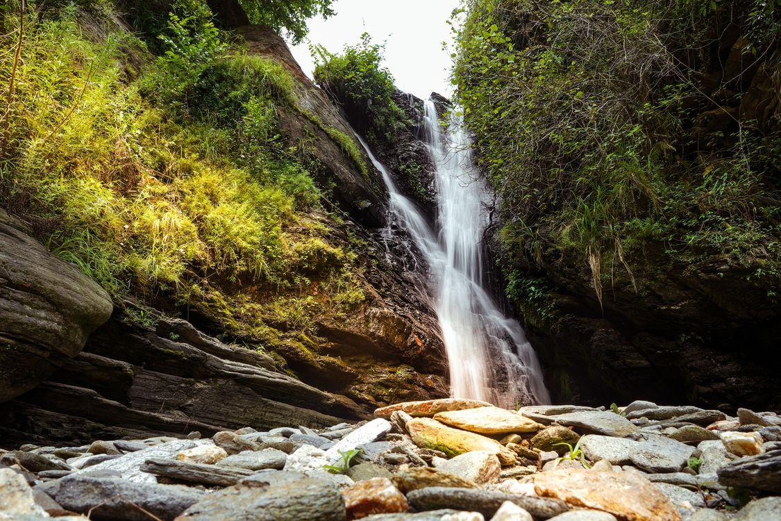 Фото бесплатно природа, скалы, водопады - на рабочий стол
