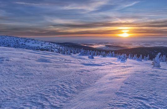 Фото бесплатно Jeseniky Mountains, Czech Republic, закат