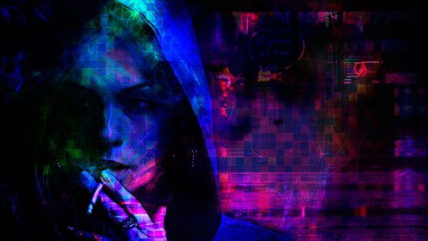 Фото бесплатно девушка, Рендеринг, абстракция