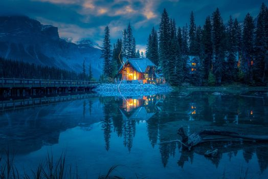Photo free house, Yoho National Park, bridge