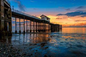 Бесплатные фото Гламорган, Penarth, Великобритания, Уэльс, закат, пирс, закат солнца