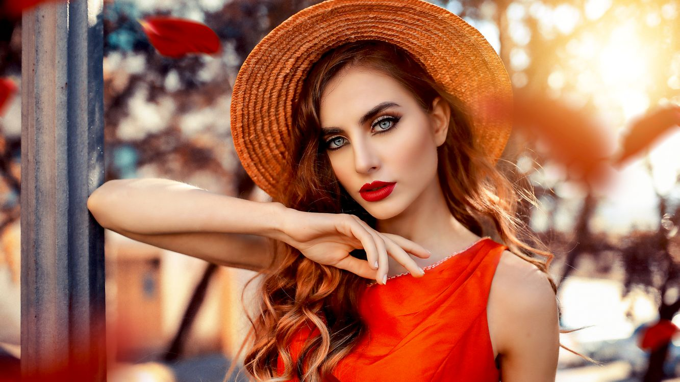 Фото бесплатно модель, брюнетка, чувственные губы, русский, сочные губы, шляпа, лицо, 4k, портрет, model, brunette, sensual lips, russian, juicy lips, hat, девушки