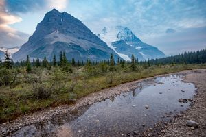 Бесплатные фото водоём,горы,небо,облака,лес,деревья,отражение
