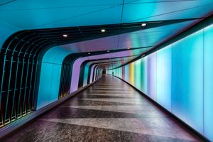 Бесплатные фото Изображение тоннеля Лондона в Кингс-Кросс Сент-Панкрас,тоннель,архитектура,дорога,свет