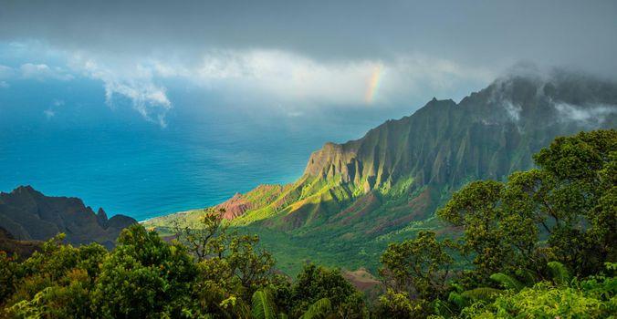 Photo free ocean, mountains, height