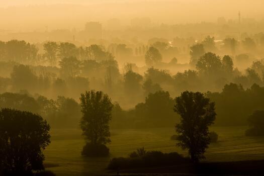 Фото бесплатно атмосфера, пейзаж, холм
