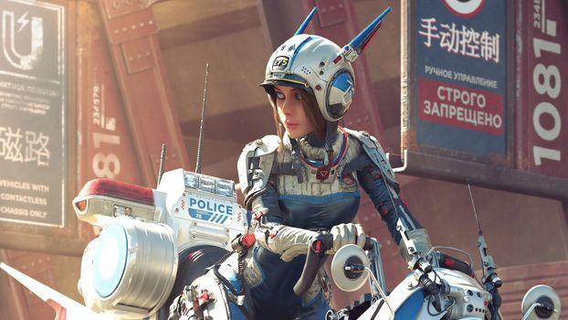Фото бесплатно полиции, научная фантастика, будущем