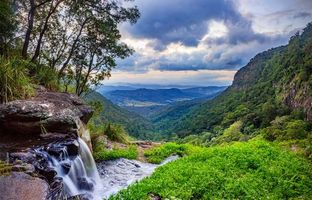 Бесплатные фото Morans Falls,Lamington National Park,Queensland,Australia,водопад,пейзаж