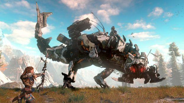 Фото бесплатно компьютерные игры, игры для Xbox, Horizon Zero Dawn