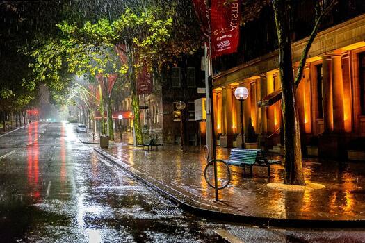 Фото бесплатно город, дождь, лужи
