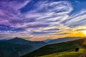 Фото бесплатно горы, облака, атмосфера