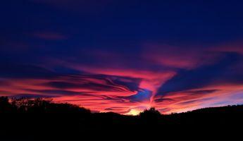 Фото бесплатно небо, закат, облака, sky, sunset, clouds