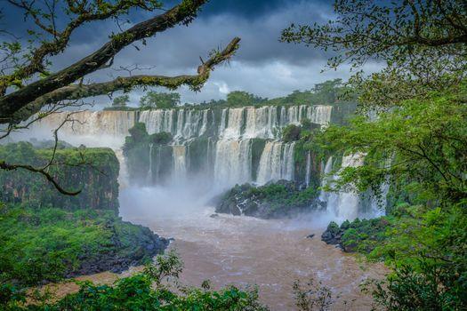 Бесплатные фото Бразилия,штат Рио-Гранде-ду-Сул,скала,водопад,деревья,пейзаж,Бразильские водопады