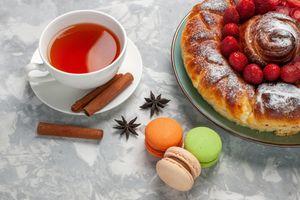 Photo free food, pie, macaron