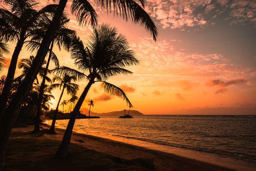 Фото бесплатно Hawaii, закат, море
