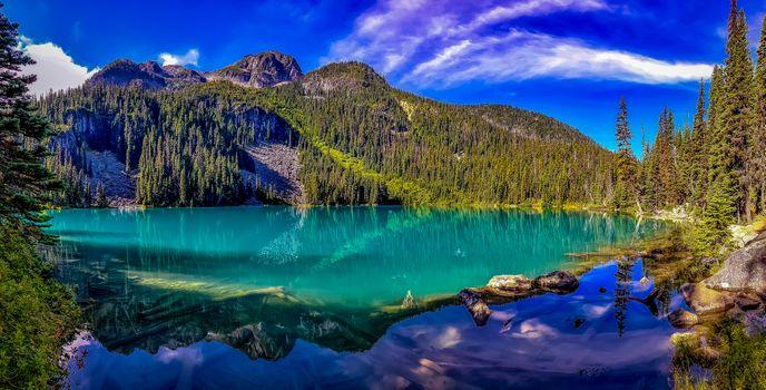 Photo free Joffre Lake, Canada, mountains