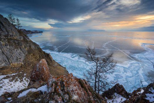 Photo free Lake Baikal, Russia, sunset
