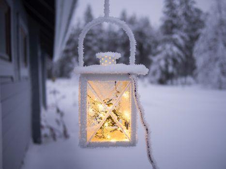 Фото бесплатно фонарь, мороз, снег