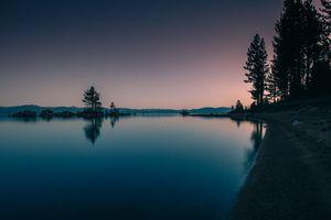Фото бесплатно Ночь, озеро, деревья