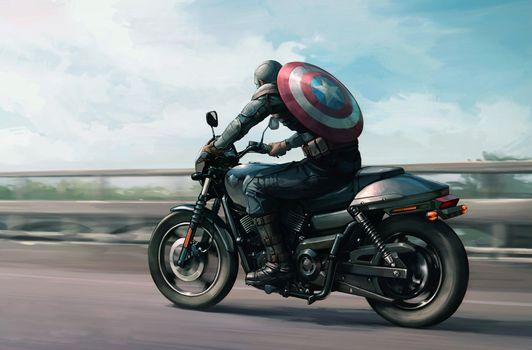 Заставки Captain America, супергерои, художника