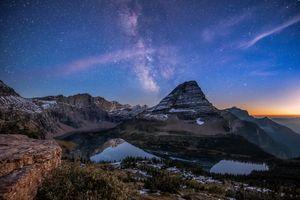 Photo free sunset, landscape, Milky Way