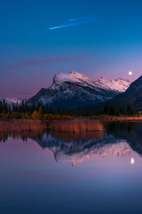 Красивые обои озеро, горы