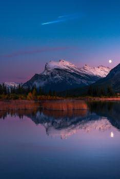 Фото бесплатно горы, озеро, отражение