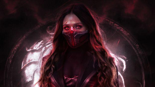Фото бесплатно Scarlet Witch, супергерои, произведение искусства
