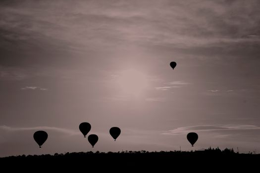 Photo free silhouette, free images, air ball