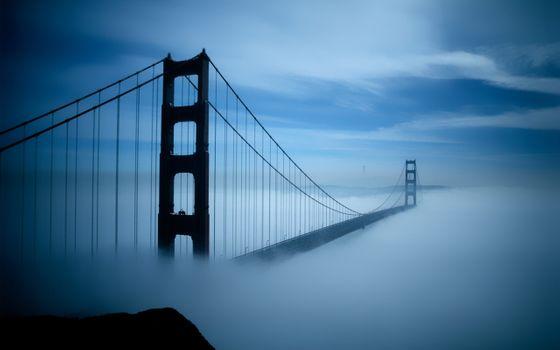 Заставки Сан-Франциско, туман, Золотые ворота