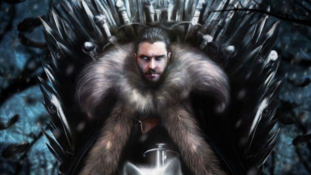 Фото бесплатно Jon Snow, Game Of Thrones Season 8, игра престолов