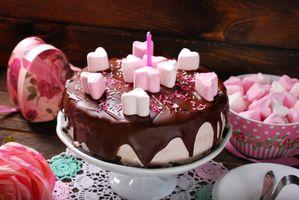 Фото бесплатно зефирки, торт, шоколад